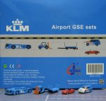 KLM GSE(Ground Service Equipments) Set 1 1/200 Airport Scenic Series Jcwings XX2021
