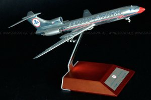 American Airlines Tupolev TU-154M N154AP 1/200 Scale Diecast Aircraft Model Jcwings