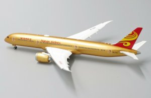 "Hainan Airlines Boeing 787-9 Dreamliner ""All Gold"" ""Flaps Down"" 1/400 Scale diecast Aircraft Model Jcwings XX4034A"