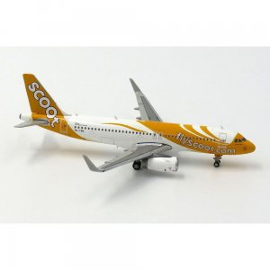 Scoot Airbus A320(SL) 1/400 Scale Diecast Metal Aircraft Model Jcwings XX4722