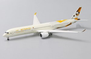 "Etihad Airways Airbus A350-1000XWB ""Flap Down"" A6-XWB 1/400 Scale Diecast Metal Aircraft Model Jcwings XX4175A"