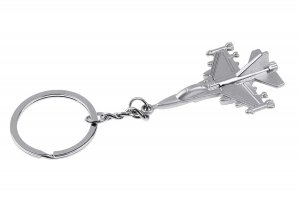 F16 Silver Metal Grey Color Keychain