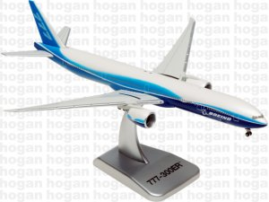 House Colors Boeing 777300ER 1/400 Scale Diecast Metal Aircraft Model Hogan