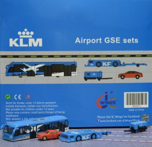 KLM GSE(Ground Service Equipments) Set 3 1/200 Airport Scenic Series Jcwings XX2023