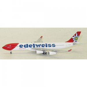 Edelweiss Airlines Airbus A340-300 HB-JMG 1/400 Scale Diecast Metal Aircraft Model Jcwings