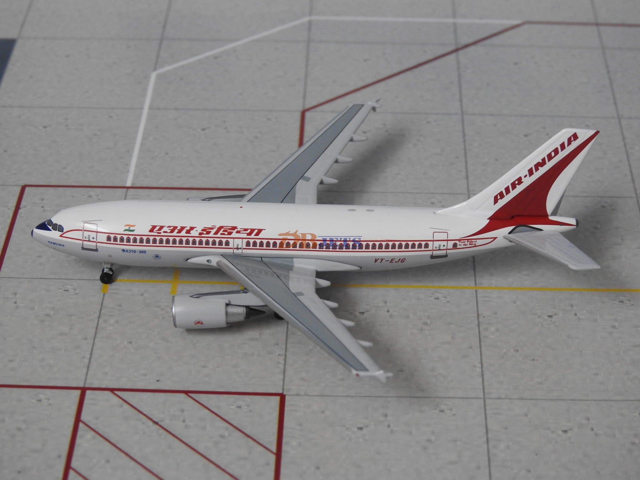 Air India Airbus A310-300 VT-EJG 1/400 Scale Diecast Metal Aircraft Model  Aeroclassics
