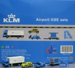 KLM GSE(Ground Service Equipments) Set 4 1/200 Airport Scenic Series Jcwings XX2024