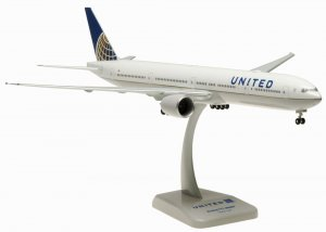 United Airlines Boeing 777300ER with Wifi Radome 1.200 Scale Hogan HG10567GR