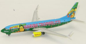 "Tuifly Boeing 737800 ""TROPIFRUTTI"" D-ATUJ 1/200 Scale Diecast Metal Aircraft Model Jcwings XX294"