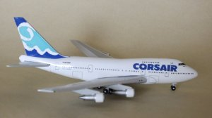 Corsair Boeing 747SP F-GTOM 1/400 Scale Diecast Metal Aircraft Model Geminijets GJCRL063
