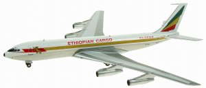 Ethiopian Airlines Cargo Boeing 707-300 ET-AIV(POLISHED) 1/200 Scale Diecast Metal Aircraft Model INFLIGHT200