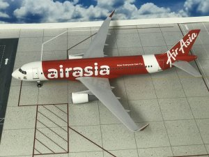 Air Asia India Airbus A320 NEO 1/150 Scale With Stand and Landing Gears