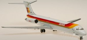 Iberia Airways McDonnell Douglas MD-87(EC-EXM CIUDAD DE ZARAGOZA) 1.200 Scale Diecast metal Aircraft model Hogan HG5682