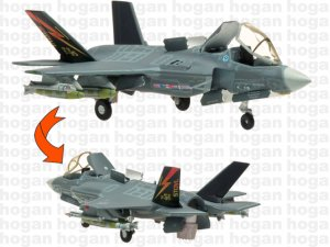 US Marines Lockheed Martin F-35B BF-01,OPEN CANOPY 1.200 scale aircraft model Hogan HG60289