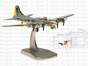 "United States Army Air Corps B-17G ""LIBERTY BELLE"" 1/200 Scale Diecast Metal Aircraft Model Hoganwings HG5965"