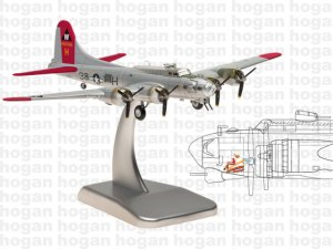 "United States Army Air Corps B-17G ""ALUMINUM OVERCAST"" 1/200 Scale Diecast Metal Aircraft Model Hoganwings HG5972"