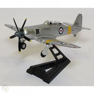 "Hawker Sea Fury T20S Royal Navy ""VZ345"" 1/72 Scale Diecast Metal Aircraft Model Wittywings brand"