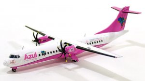 "Azul Airways ATR-72-600 ""PINK"" PR-ATB 1/200 Scale Diecast Metal Aircraft Model Jcwings XX2705"