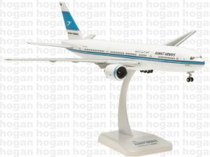 Kuwait Airways Boeing B777-200ER AL QURAIN 1.200 Aircraft Model Hoganwings 0137GR