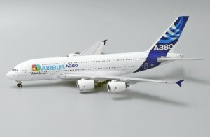 "House Colors Airbus A380 Reg: F-WWOW ""50 Years Pioneering Progress"" F-WWOW 1/400 Scale Diecast Metal Aircraft Model Jcwings LH4148"