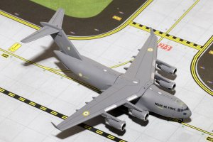 Indian Air Force Boeing C-17 Globemaster III 1/400 Scale Diecast Metal Aircraft Model Geminijets GMINF065
