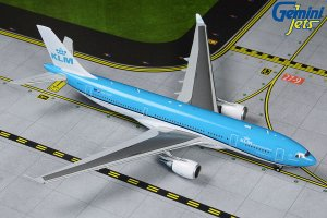 KLM Airbus A330-200 (New Livery) PH-AOM 1/400 Scale Diecast Metal Aircraft Model Geminijets GJKLM1874