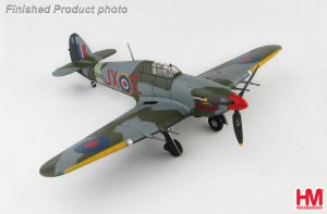 "Hawker Hurricane IIc ""Night Reaper"" JX-E/BE581, No.1 Sqn., 1942 Diecast Aircraft Model 1.48 Scale Hobbymaster HA8652"