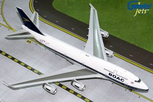 British Airways Boeing 747-400 (BOAC RETRO LIVERY) G-BYGC 1/200 Scale Airplane Model Geminijets G2BAW834
