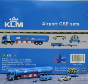 KLM GSE(Ground Service Equipments) Set 5 1/200 Airport Scenic Series Jcwings XX2025