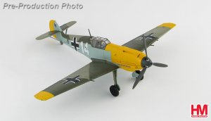 "BF 109E-4 ""Marseille"" 1.(J)/ LG 2, France, Sept 1940 Diecast Aircraft Model 1.48 Scale Hobbymaster HA8706"
