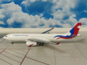Nepal Airlines Airbus A330-200 9N-ALY 1/400 Scale Diecast Metal Aircraft Model Jcwings LH4107