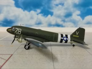 US Army Air Force Douglas C-47A Skytrain 84th Troop Carrier Sqd RAF Ramsbury Operation Neptune(D-Day) 75th Aniversary 1.200 scale airplane model Herpa HE559744