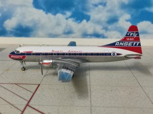 Ansett Airways Convair CV-340 Reg VH-BZD 1/200 Scale Diecast Metal Aircraft Model Herpa HE559706