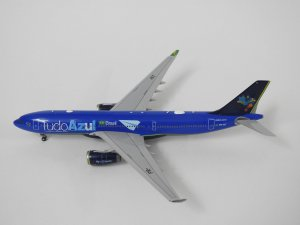 Tudo Azul Airways Airbus A330-200 Reg PR-AIT 1/400 Scale Diecast Metal Aircraft Model Jcwings XX4312