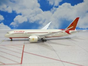 Air India Boeing 787-800 Dreamliner Inflight Version 1/400 Scale Diecast Aircraft Model Hoganwings HG40137