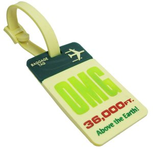 OMG 36,000ft Above the Earth! Luggage Tag Cream Color