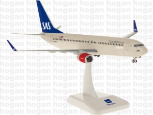 SAS Scandinavian Airlines Boeing 737-800 with winglets Reg LN-RGA 1/200 Scale Aircraft Model Hoganwings HG10932