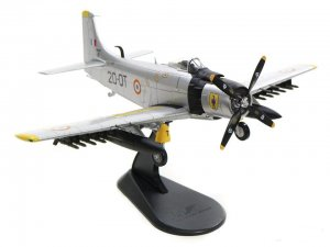 "AD-4 Skyraiders EC 2/20 ""OUARSENIS"",  Algeria, Early 1960s Diecast Aircraft Model 1.72 Scale Hobbymaster HA2916"