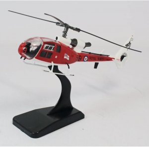 Aérospatiale/Westland Gazelle Royal Navy Sharks Aerobatic Team 1/72 Scale Diecast Metal Helicopter Model Aviation72 AV7224003