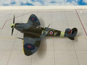 Hawker Tempest MkV Flt Lt L.C. Luckhoff, No 33 Squadron, 1945 1:72 Scale Model Aircraft Oxford AC006