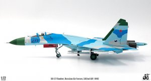 Russian Air Forces Sukhoi SU-27 Flanker, 582nd IAP, Poland, 1992 Diecast Aircraft Model 1.72 Scale Jcwings JCW-72-SU27-005