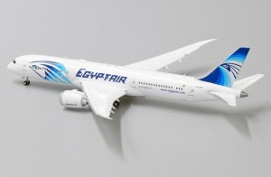 Egyptair Boeing 787-9 Dreamliner Flaps Down Version Reg SU-GER 1/400 Scale Diecast Aircraft Model Jcwings LH4144A