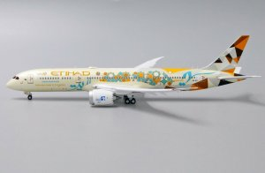 Etihad Airways Boeing 787-9 Dreamliner (ADNOC Livery) Flaps Down Version Reg A6-BLI 1/400 Scale Diecast Aircraft Model Jcwings XX4212A