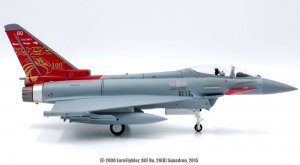 Royal Air Force Eurofighter EF-2000 Typhoon, No.29 Squadron, 2015 Reg ZK353 Diecast Metal Aircraft Model 1/72 Scale Jcwings JCW-72-2000-002