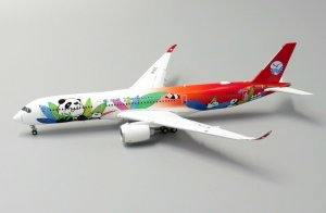 Sichuan Airlines Panda Livery Special Colors Airbus A350-900 Flaps Down Version Reg B-301D 1/400 Decast Metal Aircraft Model Jcwings KD4101A