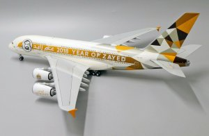 Etihad Airways Year Of Zayed Airbus A380-800 Reg A6-APH 1.200 Scale Diecast Metal Aircraft Model Jcwings XX2034