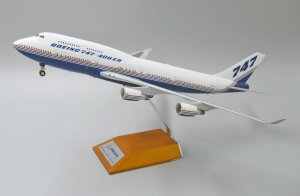 House Colors Boeing B747-400ER With Stand Reg N747ER 1/200 Scale Diecast Airplane Model Jcwings XX2174