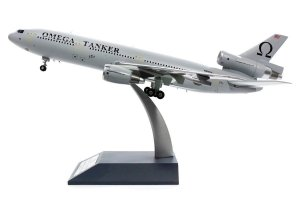Omega Tanker McDonnell Douglas DC-10-40 Reg N974VV With Stand 1/200 Scale Diecast Metal Aircraft Model INFLIGHT200 IFDC100317