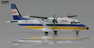 "British Caledonian Short360-100 ""Big Flag"" Reg G-BKZR 1/200 Scale Diecast Metal Aircraft Model Jcwings XX2535"