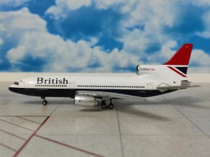 British Airways Red Tail Lockheed L1011-500 Tristar Reg G-BFCC 1/400 scale Diecast Metal Aircraft Model Aeroclassics AC419586